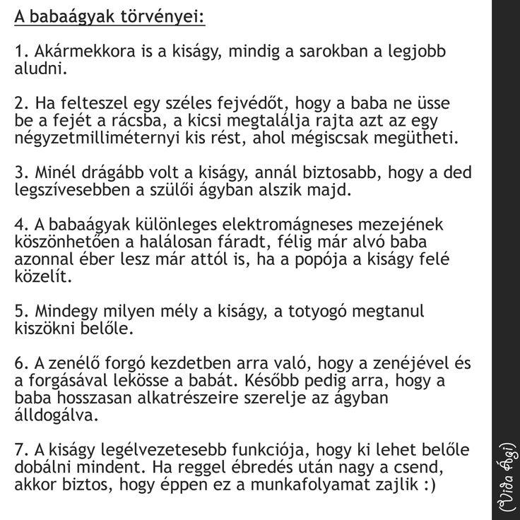 A babaágyak törvényei :)