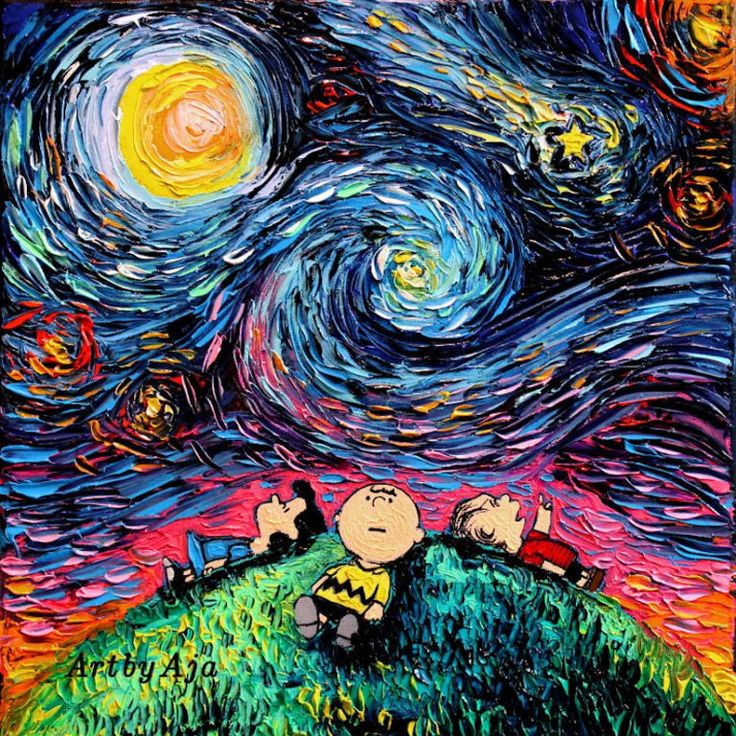 Van Gogh's 'Starry Night' Invaded by Pop Culture Icons - Zeutch