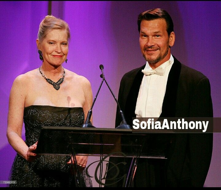 Lisa Niemi and Patrick Swayze in 9th Annual Costume Designers Guild Awards - Show (17,February 2007)