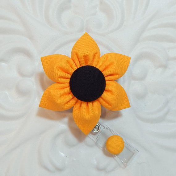Badge Holder  Id Badge Holder  Badge Reel  by belleadees on Etsy