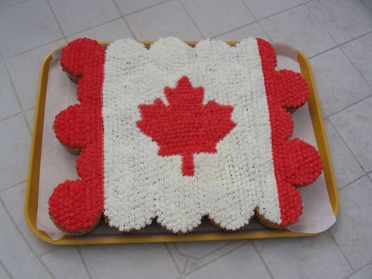 An awesomely fun, really nicely done Cupcake Canadian Flag.