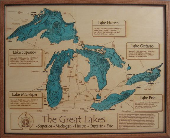 Map of The Great Lakes
