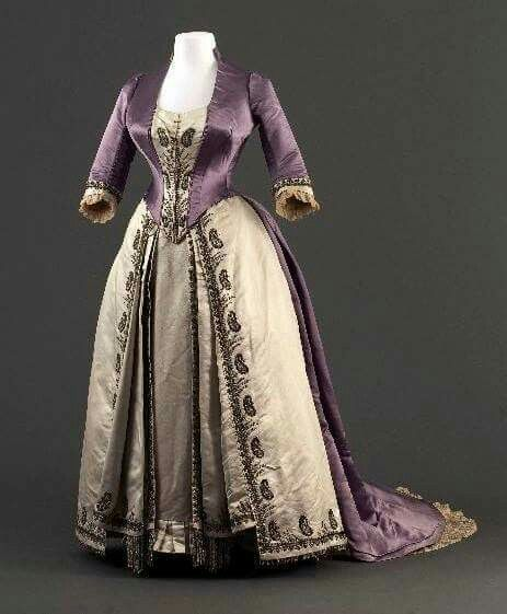 1880 Worth evening dress.