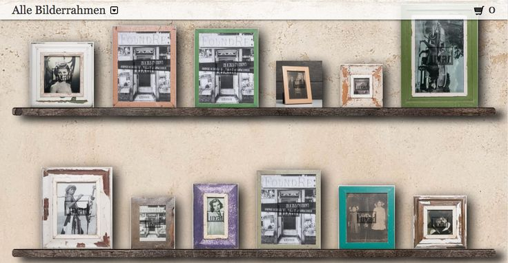 Onlineshop with frames made from recycled wood. Worldwide shipping. ;-)