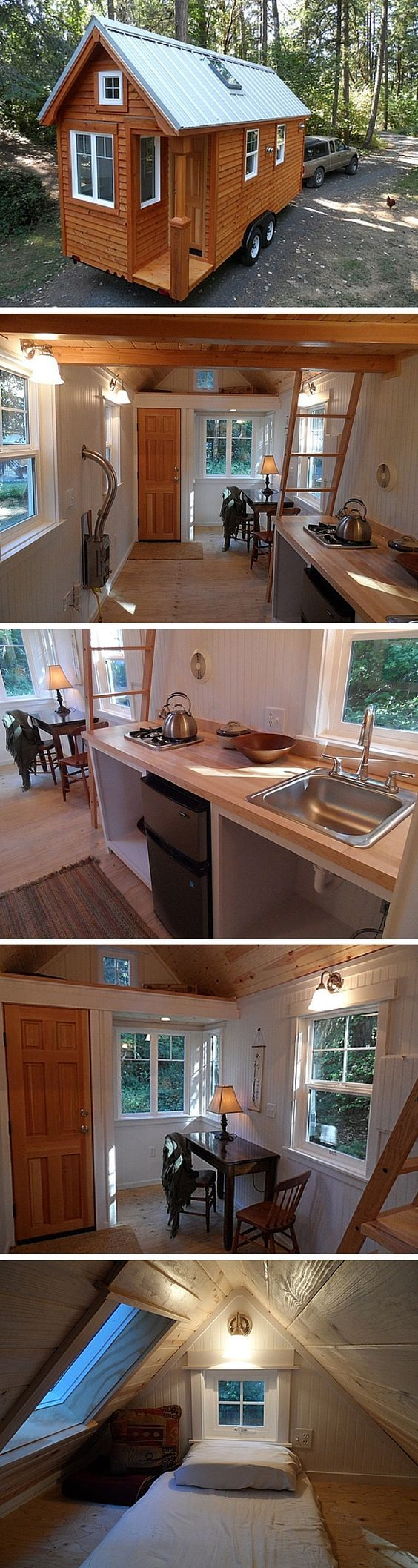 The Siskiyou (Colonial) is a 170 sq ft tiny home with a sustainable design