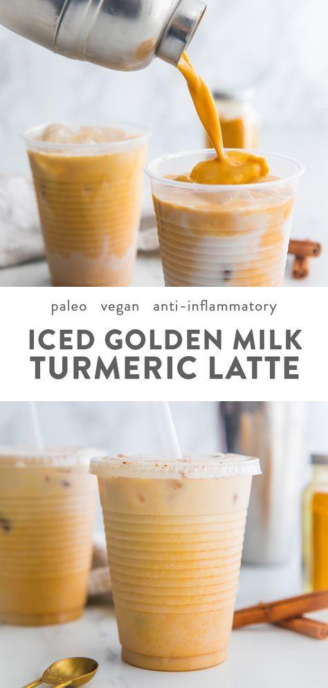 Iced Golden Milk Turmeric Latte (Paleo, Vegan)Denise Barrett