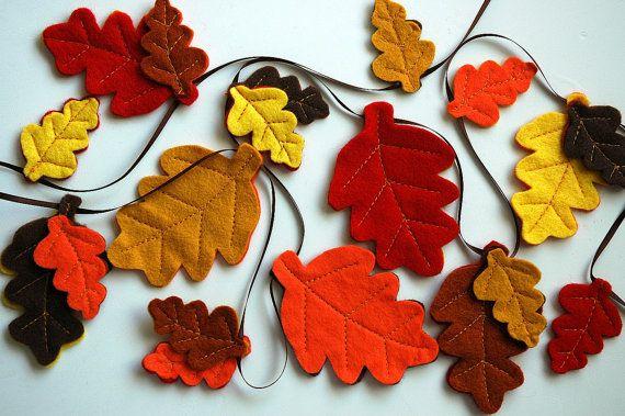 felt leaves garland