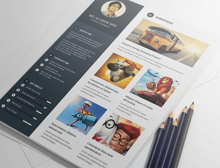 166 best Free PSD - Gaspix Web Design Blog images on Pinterest - elements of a good resume