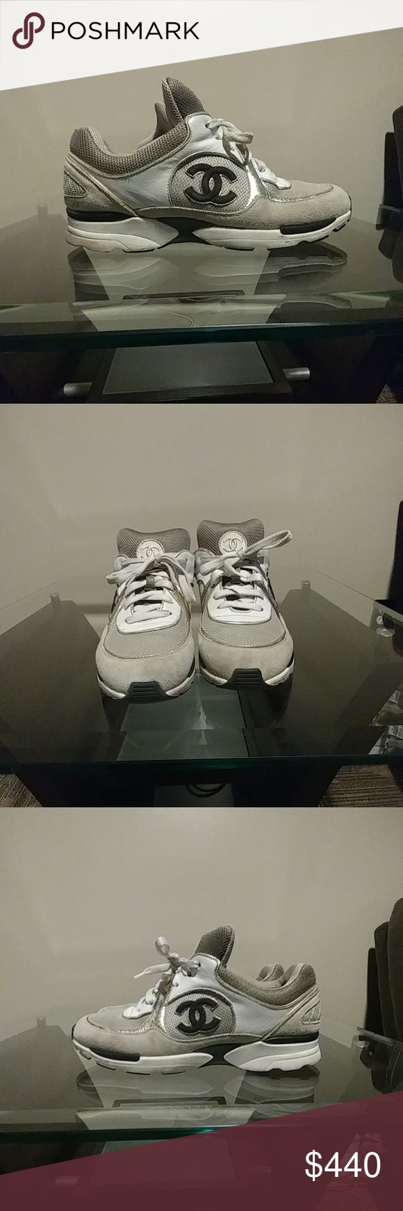 Chanel trainers size 40 1/2 Chanel tennis shoes 100%  authentic Shoes Sneakers