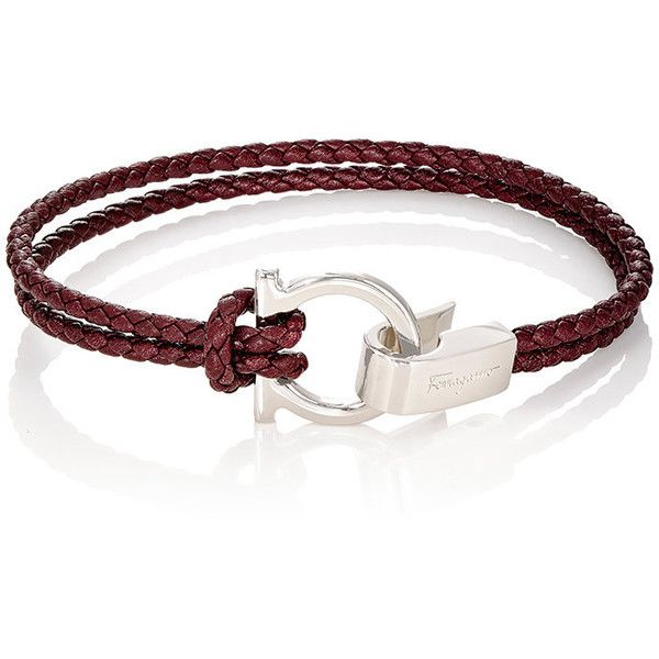 Salvatore Ferragamo Men's Double-Band Bracelet (11,545 DOP) ❤ liked on Polyvore featuring men's fashion, men's jewelry, men's bracelets, light green, mens bracelets, mens engravable leather bracelets, mens leather bracelets, mens engraved bracelets and mens watches jewelry