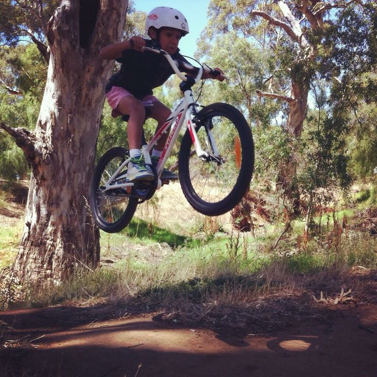 Steve Wellington took this picture of his eldest son taking his bike for a fly @City of Salisbury South Australia #LittleParaTrail. Wow! Thanks for sharing Steve. #health #fitness #cycling