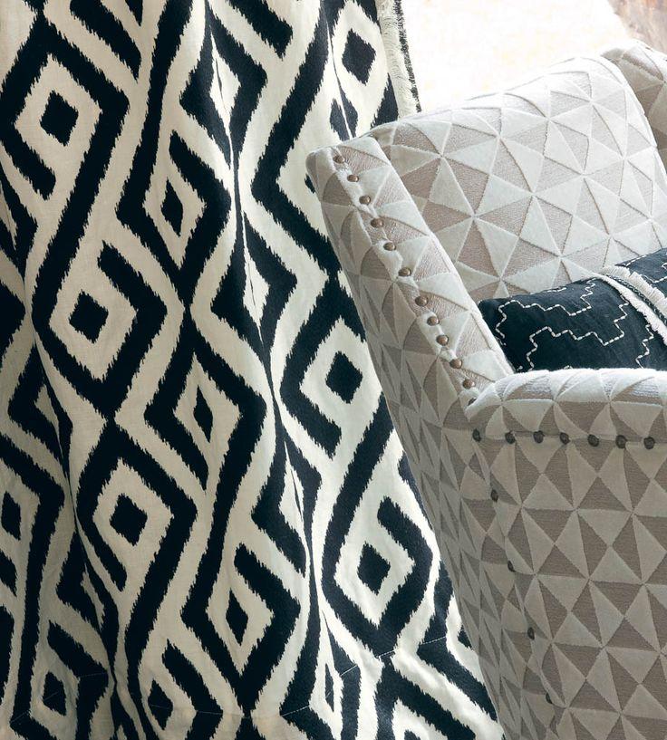 Contemporary Geometrics | Cayley Fabric by Casamance | Jane Clayton