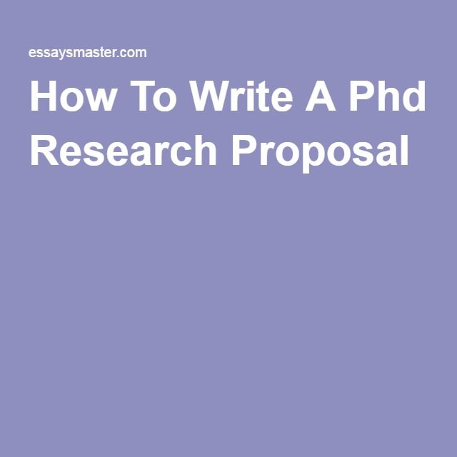 Thesis for phd research proposal ideas