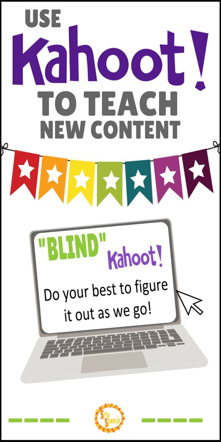 Teachers, do your students love using Kahoot as a review game in class? Here's another idea for how to use Kahoot quizzes in your classroom: Blind Kahoot! Use Kahoot games to introduce a new concept in any subject - math, reading, science, spanish - you name it! Your middle and high school students will love this fun activity instead of taking notes. It's a great way to change up your lesson plan!
