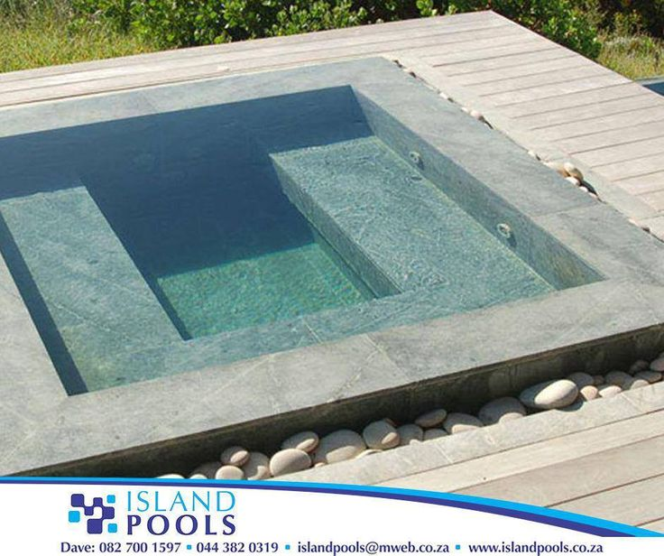 At #IslandPools, we offer customised spas and vitality pools, designed to suit your requirements, in any surface finish of your choice. Call us on 044 382 0319 for more info. #swimmingpools