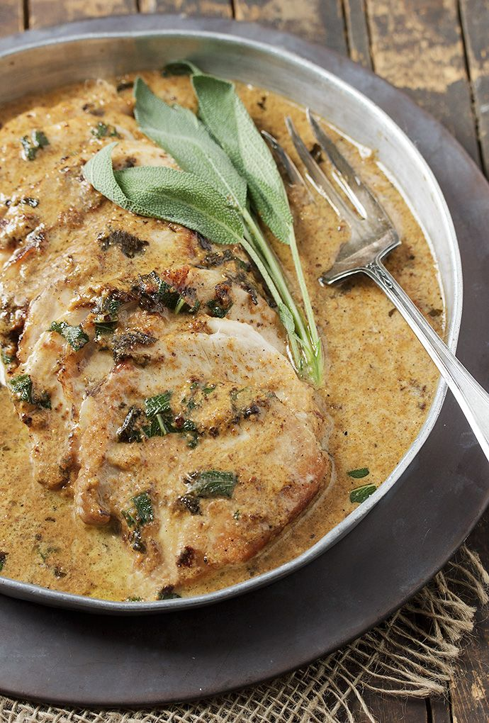 Pork Loin Braised in Milk - quick, easy and with a gravy so delicious you'll be licking it off the plate!