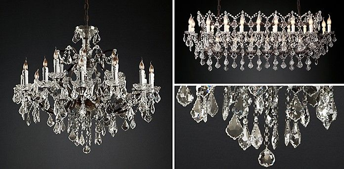 19th C Rococo Iron Crystal Chandelier Collection Rh