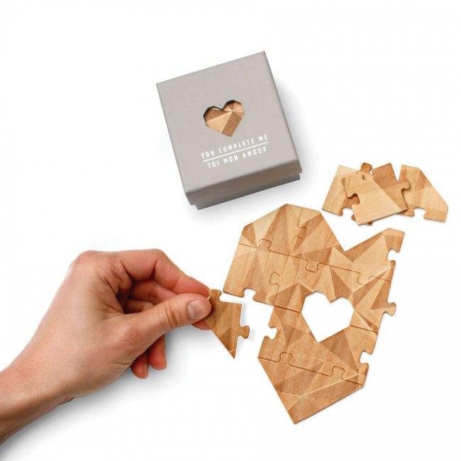 Puzzle con forma de Corazón para escribir Mensaje en él - El Capricho Original - Regalos Originales y Divertidos - Hogar, Hombre, Mujer, Niño, Niña - Accesorios iPhone, iPad - Regalo Original en España