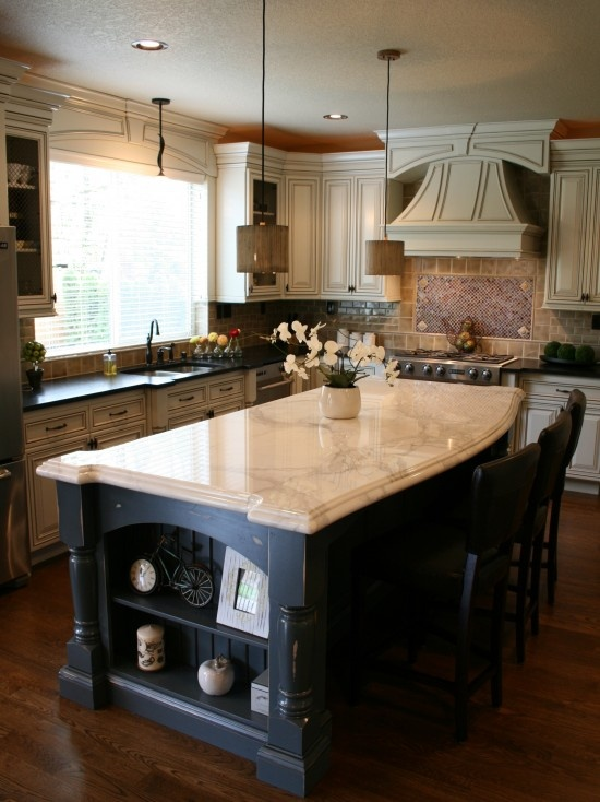 25 best images about wood floor stains on pinterest see for Traditional kitchen designs with islands