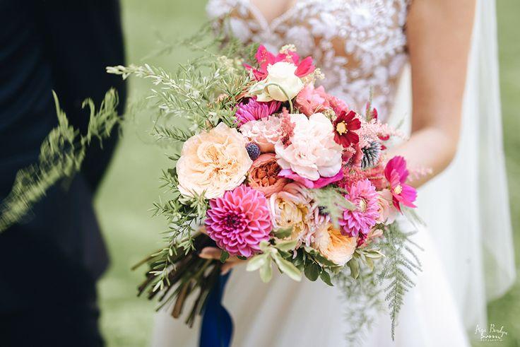 INNA Studio_bridal bouquet / bukiet ślubny / różowy bukiet ślubny / fot. Aga Bondyra Fotografia