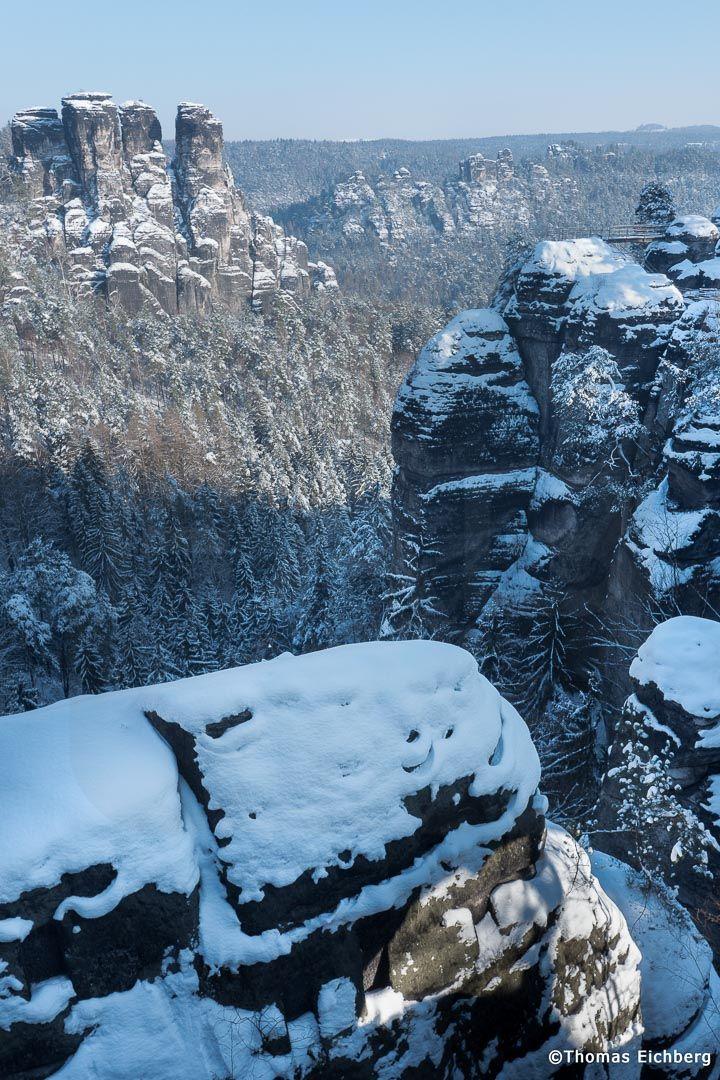 Blick von der Basteibrücke nach Norden.