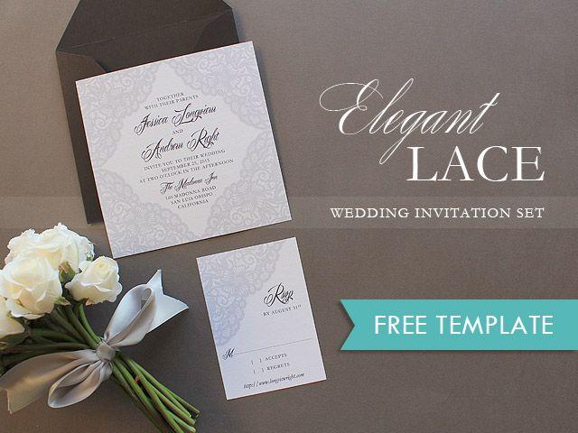 Free Elegant Lace Printable Wedding Invitation photo | The Budget Savvy Bride