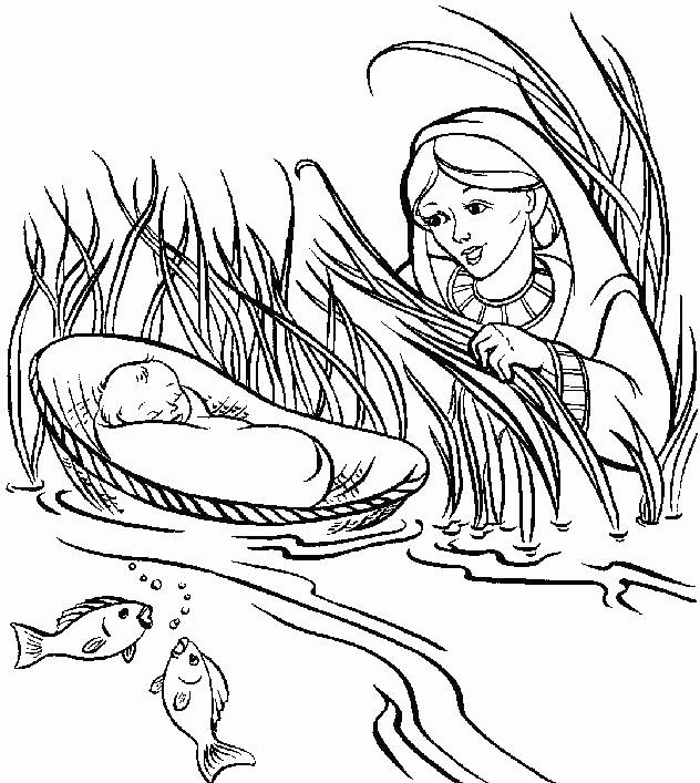 Baby Moses Coloring Page Inspirational Baby Moses Coloring Sheet