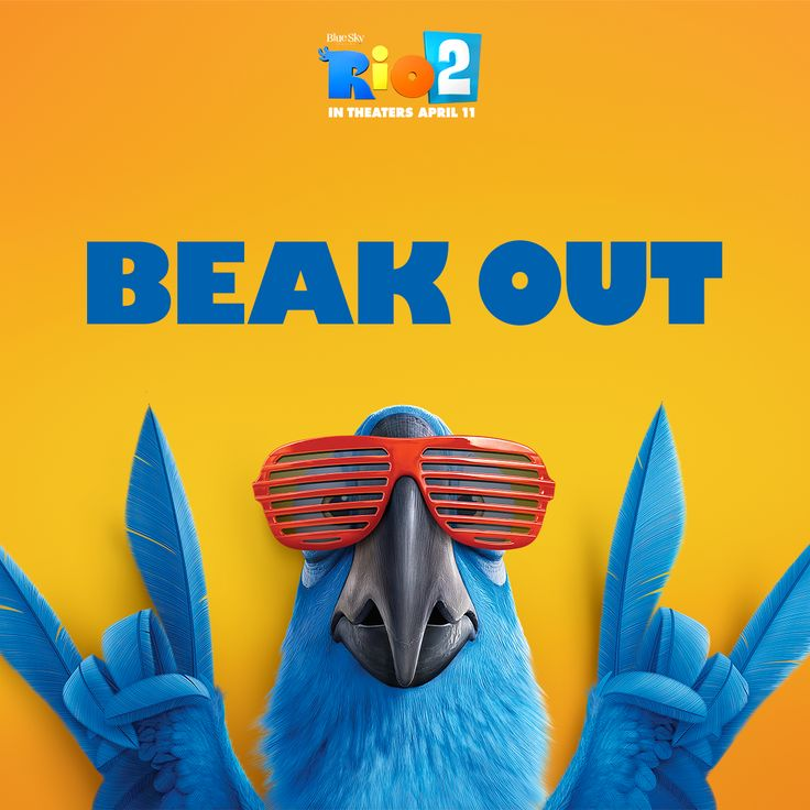 Beak out. Go see #Rio2, in theaters now! Get tickets here: http://bit.ly/Rio2Tickets