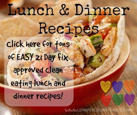 Check out this site, it has great 21 Day Fix recipes and Clean Eating recipes! Perfect for any weight loss plan! - 21 Day Fix Meals - Piyo recipes - Piyo Meals - Clean Eating Meals