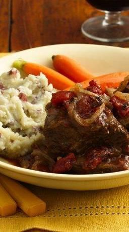 Short Ribs with Tomato-Wine Sauce | Recipe | Beef Short Ribs, Short ...