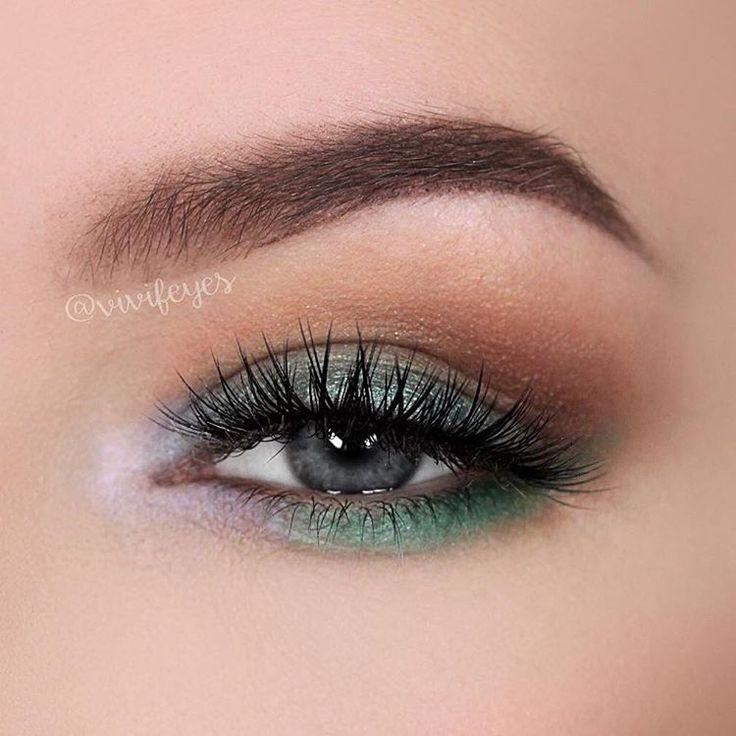 Makeup Geek Eyeshadows in Baby Face, Cocoa Bear,  Dragonfly, and Bada Bing + Makeup Geek Duochrome Eyeshadow in Phantom + Makeup Geek Foiled Eyeshadow in Pegasus. Look by: vivifeyes on Instagram