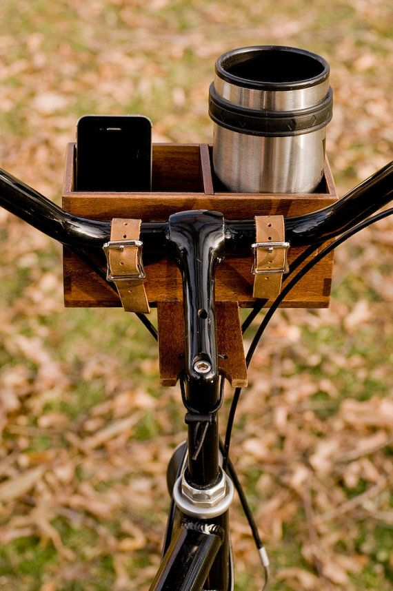 Hardwood Bike Basket by AvieArts on Etsy