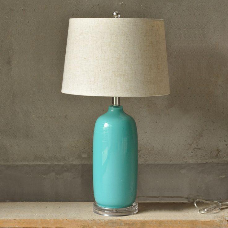 Настольная лампа Бирюзовое стекло
