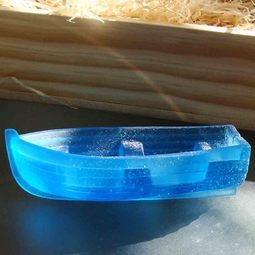 Sailing away ~ cast glass boat