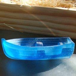 Sailing away ~ cast glass boat