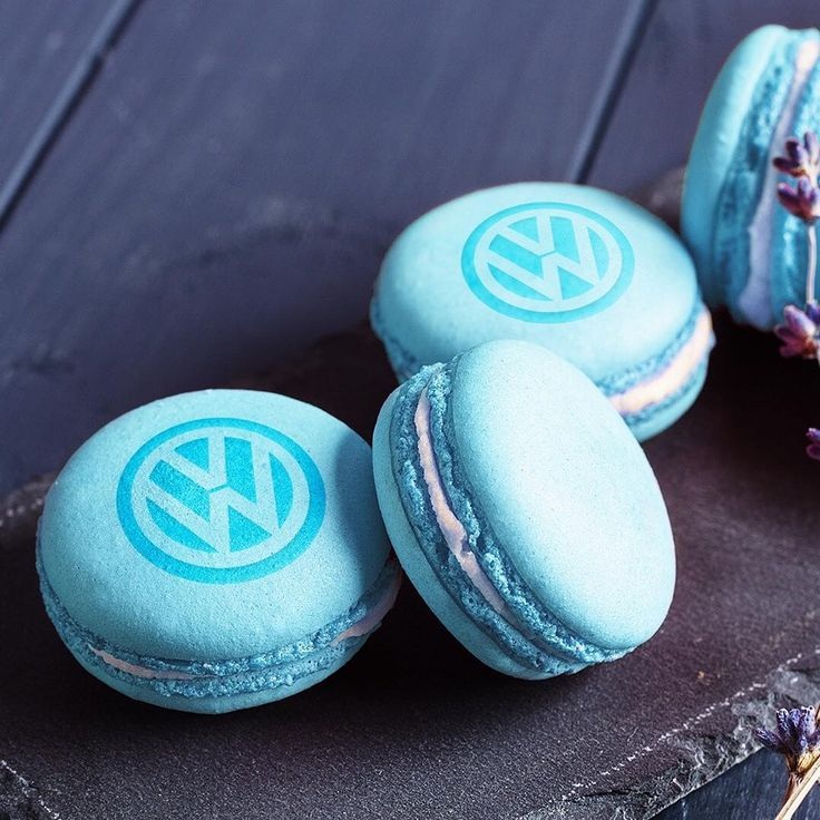 There's always space for a macaron. #macaron #volkswagen #vw