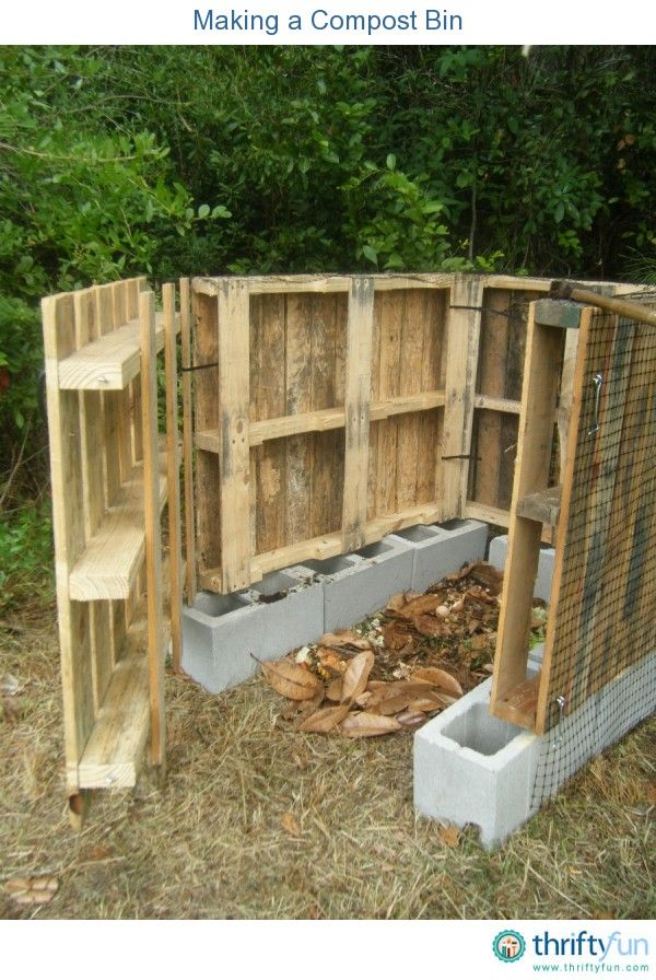 This is a guide about making a compost bin. You can easily and  inexpensively make your own backyard compost bin, it need not be an  expensive commercial ... - This Is A Guide About Making A Compost Bin. You Can Easily And
