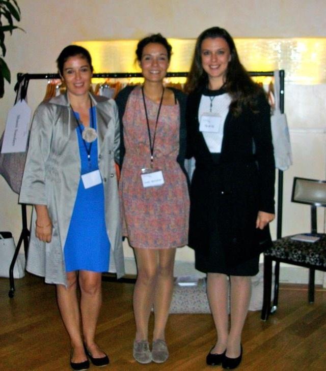 Ethical Fashion Designers at Ecoluxe from left to right : Athena Bentila (MuMu organic- Greece), Nuria Posa (Iconic Barcelona-Spain), Roberta Gentile (TU)