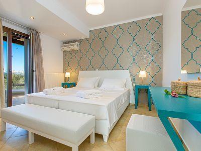 Rethymno villa rental - All three bedrooms of Villa Marina are located on the first floor!