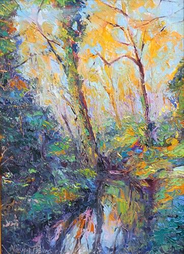 Norman Teelin 'Sunset St. Anne's Park' #art #painting #sunset #trees #NormanTeeling #DukeStreetGallery