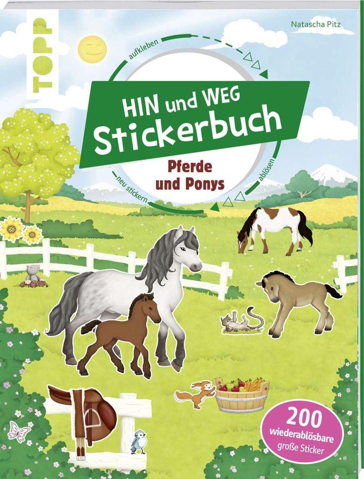 Das Hin-und-weg-Stickerbuch. Pferde und Ponys https://www.topp-kreativ.de/das-hin-und-weg-stickerbuch.-pferde-und-ponys-7843?c=1734#frechverlag #topp #diy #sticker