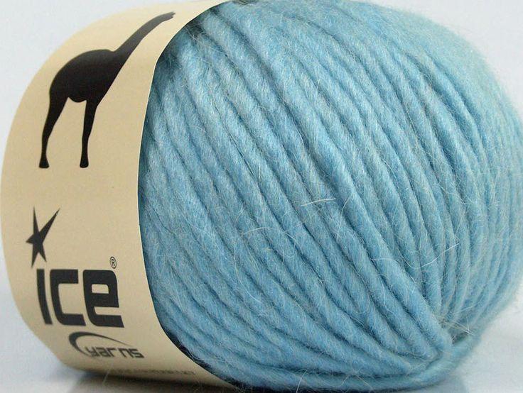 Fiber Content 50% Merino Wool 25% Acrylic 25% Alpaca Light Blue Brand Ice Yarns fnt2-48100