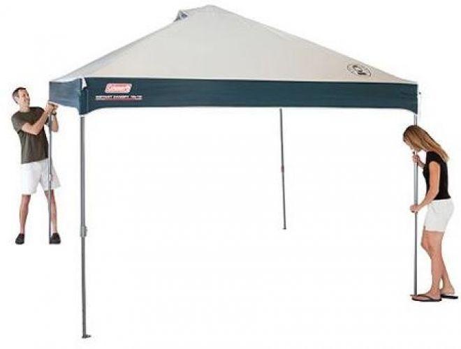 Coleman Instant Canopy Gazebo Tent Patio 10u0027 X 10u0027 Straight Leg Outdoor  Shelter