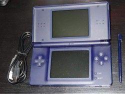 Console Nintendo Ds Lite Blue Enamel Navy Working + USB - Import Japan