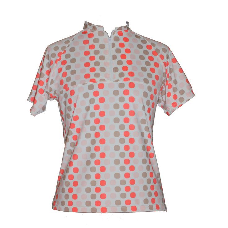 Spring Prints Golf Shirt - Sassy Coral $42.00 (http://www.ladygolfwear.com.au/spring-prints-golf-shirt/)  Also avaible as a set with matching skort