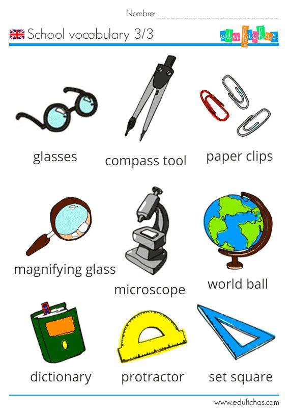 49 best images about aprender ingl s on pinterest for Material de oficina en ingles