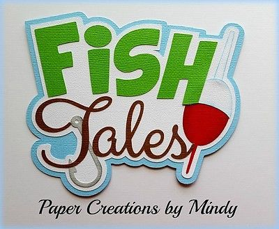 Craftecafe Mindy Fish Tales Outdoors title premade paper piecing scrapbook