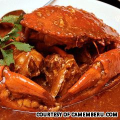 Chilli Crab, a famous dish from Singapore!  I definitely want to try this.  Follow this link for 50 most delicious foods around the world.