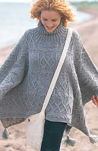 Caroling Cape Knitting Pattern : 1000+ images about ponchos, capas a crochet y/o tricot on Pinterest Cable, ...
