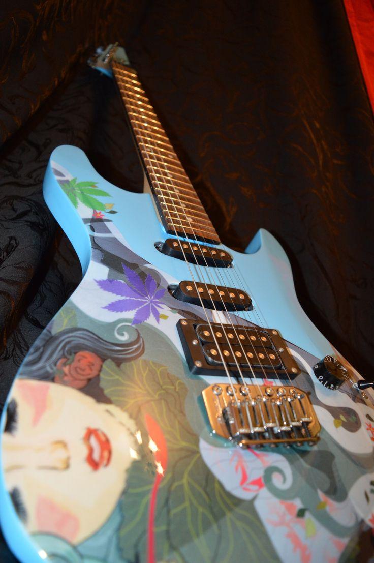 Электрогитара Milk Maple  Electric guitar Milk Maple. Exclusive design. Unique in the world) Электрогитара, гитара, панк, рок, панк-рок, металл, дизайн гитары, эксклюзив, DK, DK Guitar, рисунок на гитаре, принт на гитаре, ручная работа, Electric guitar, guitar, punk, rock, punk rock, metal, guitar design, exclusive, guitar drawing, print on guitar, handmade, Фендер, Гибсон, Стратокастер, Ибанез, Джексон, Кастом, Fender, Gibson, Stratocaster, Ibanez, Jackson, Custom, Custom Shop